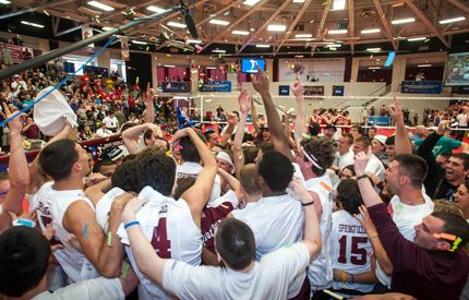 Champs Springfield College Wins Inaugural Ncaa Division Iii Men S Volleyball Championship Springfield College Mens Volleyball National Championship