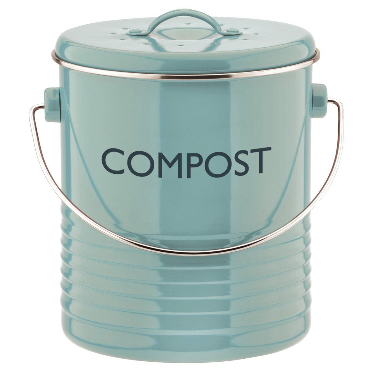 Kitchen Compost Container: Typhoon Summer House Blue Compost Caddy.