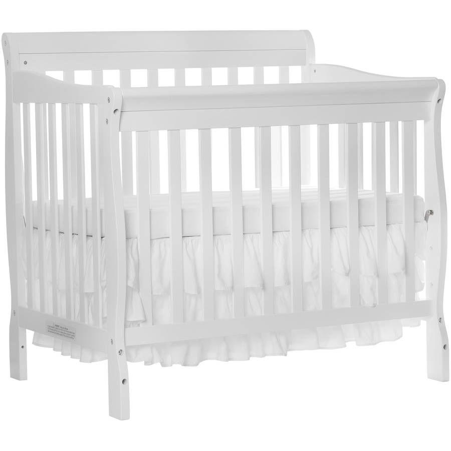 Dream On Me Aden 4 In 1 Convertible Mini Crib White Walmart Com In 2020 Mini Crib Baby Cribs For Sale Cribs For Small Spaces