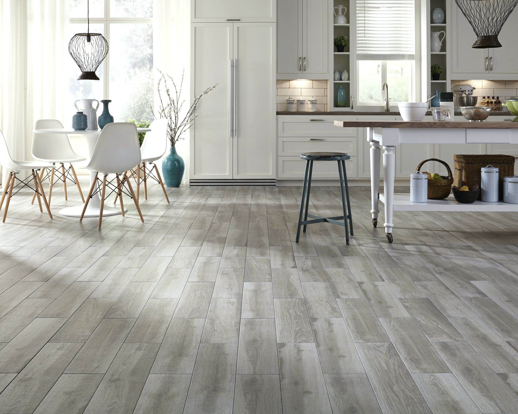 Gray Wood Tile Flooring