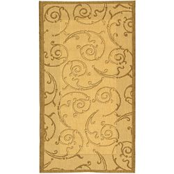 @Overstock - Complement any home decor with a versatile rug Courtyard all weather rug features Persian and European designs Transitional rug showcases its pattern in brown on a natural backgroundhttp://www.overstock.com/Home-Garden/Indoor-Outdoor-Oasis-Natural-Brown-Rug-27-x-5/3228698/product.html?CID=214117 $23.30