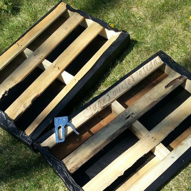 DIY Pallet Garden; How to make Raised Wood Pallet Garden