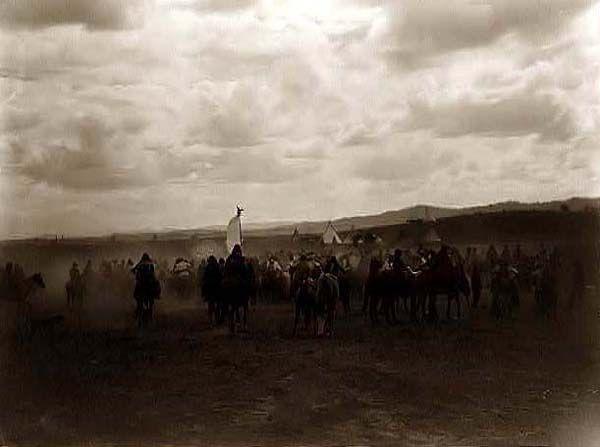 Jicarilla Apaches on Horses
