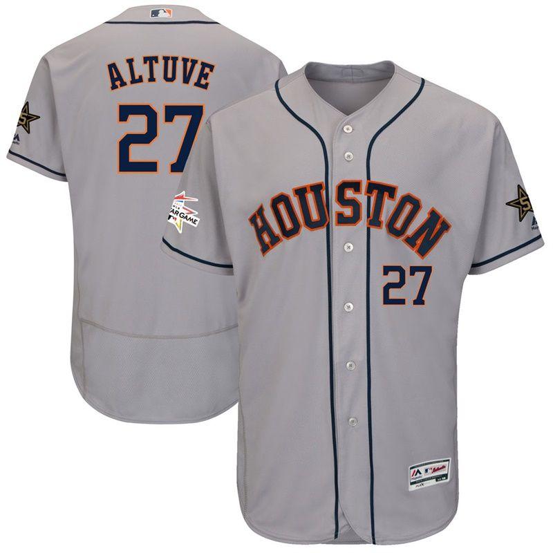 32636b59b97 Men Astros Jose Altuve Gray 2017 MLB All-Star Flex Base Jersey | MLB ...