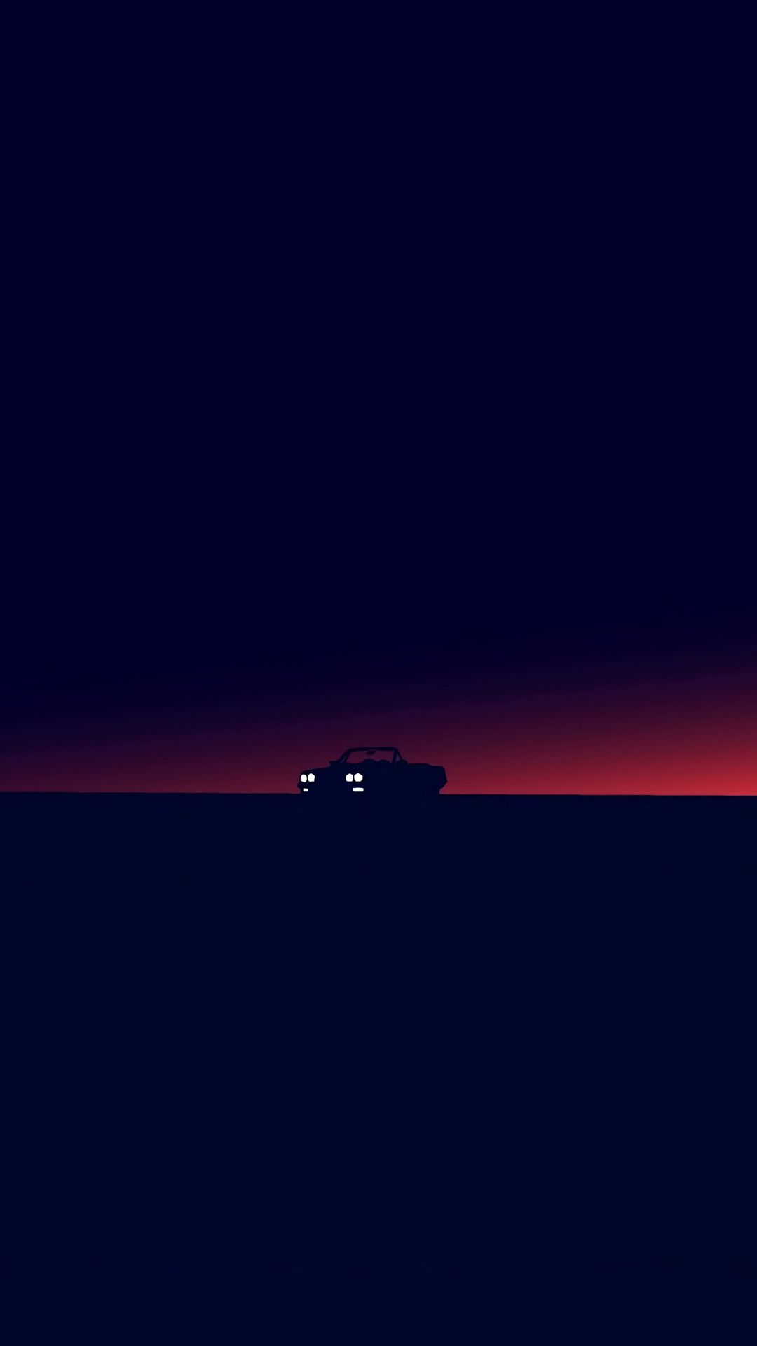 Car Silhouette Dark Twilight Minimal 1080x1920 Wallpaper Minimalist Wallpaper Minimal Wallpaper Art Wallpaper