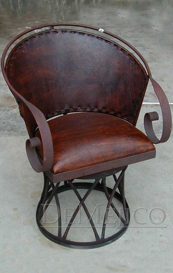The Iron Equipal Chair Is A Traditional Mexican Equipal Design