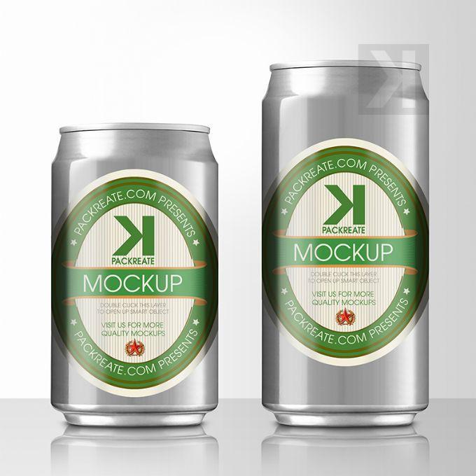 Packreate Beer Can Psd Mockup Silver Beer Can Beer Logo Beer