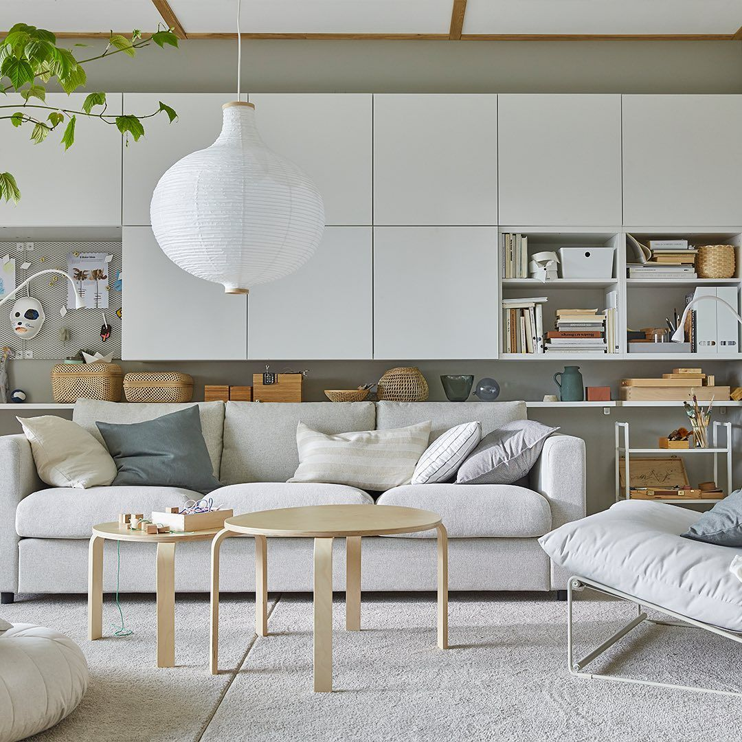 Ikea Saudi ايكيا السعودية Posted On Instagram قد تكون الصالة أكثر الغرف ازدحاما ولكن في وقت Ikea Living Room Living Room Storage Bright Living Room