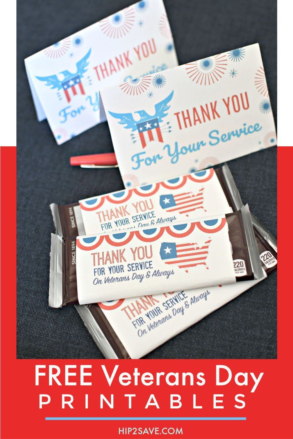 Free Veterans Day Thank You Printable Cards and Candy Bar Wrappers #veteransdaythankyou Free Veterans Day Thank You For Your Service  Printable Cards and Candy Bar Wrappers #veteransdaythankyou