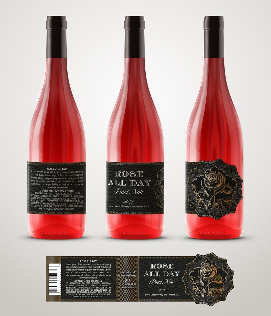 How To Design A Wine Label The Ultimate Guide 99designs Wine Label Rose Wine Label Wine Label Design