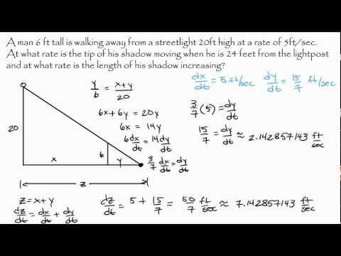 shadow problems worksheet