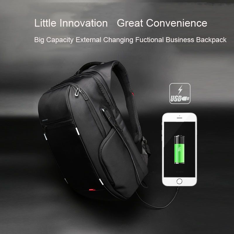 Big SALE kingsons Men USB Charge Computer Bag Anti-theft Notebook Backpack  13 15 17 inch Waterproof Laptop Backpack Women School Bag 29eb18acd3575
