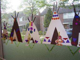 Indianententjes versieren met mozaiekrand