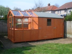Superieur Solar Potting Shed / Wooden Greenhouse / Combined Shed Greenhouse