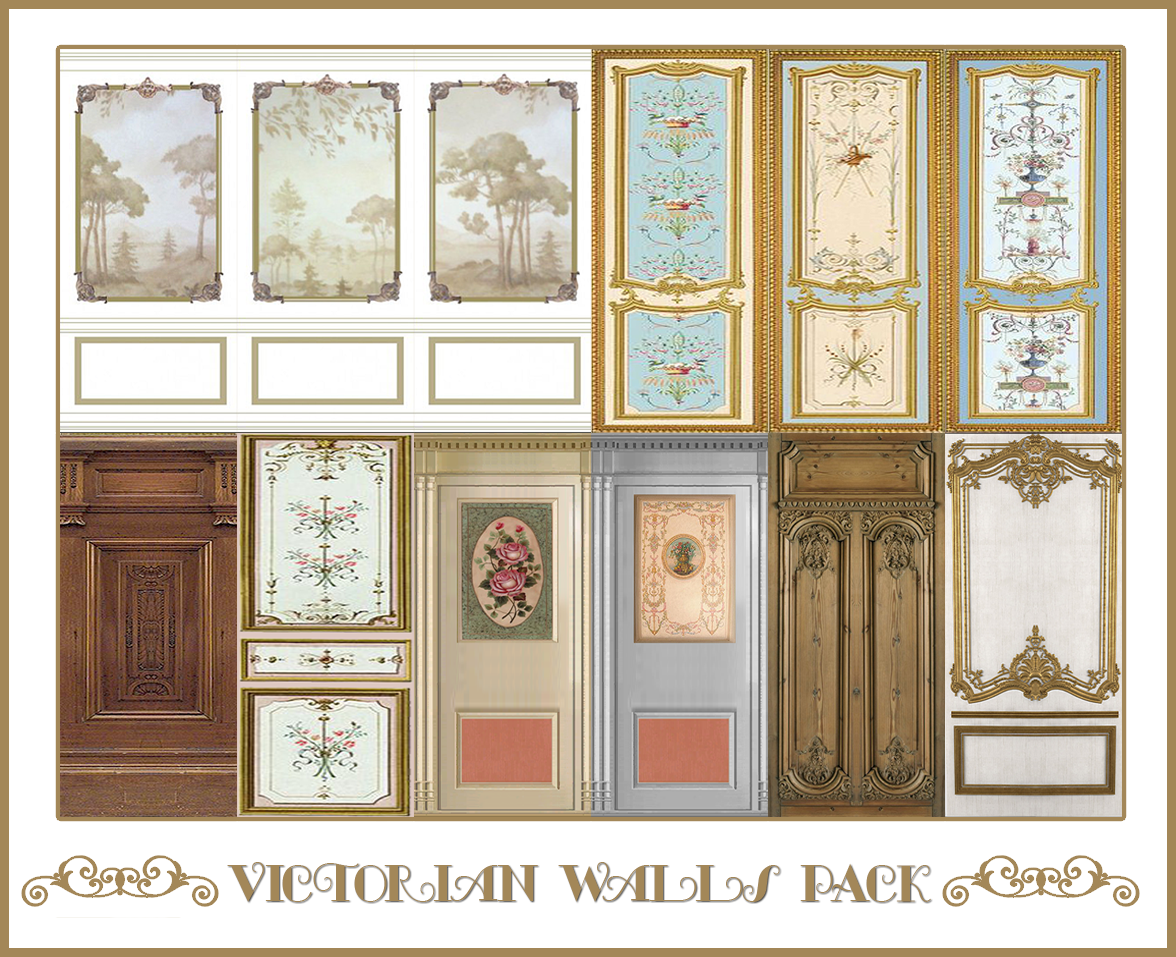 Victorian Walls Pack | Sims 4 Designs