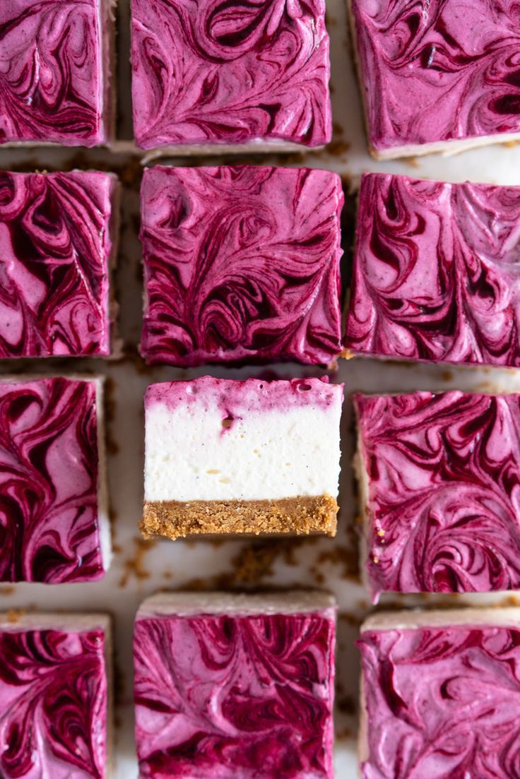No Bake Mixed Berry Cheesecake Bars — Cloudy Kitchen
