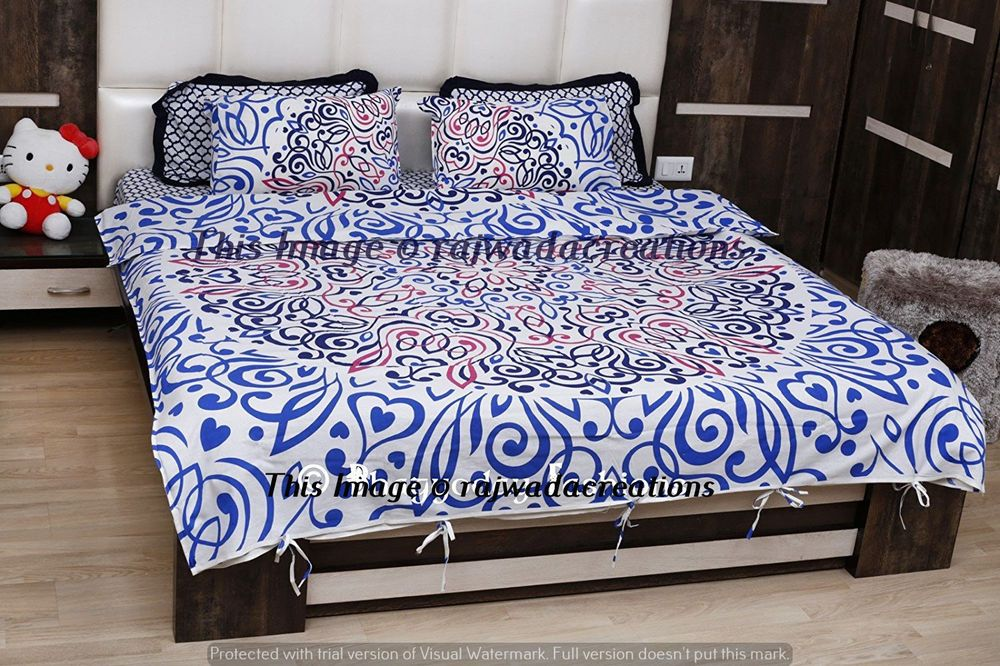 New Urban Outfitters Mandala Duvet Set Doona Cover Indian Bedding Pillow Pair