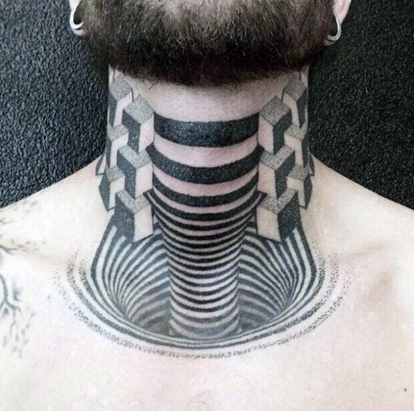 Tatuaże 3d Na Szyi Tattoos Tattoos Tattoo Designs I Optical