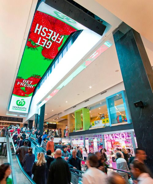 Massive Digital Signage Ceiling Goes Live at Australia's Macquarie Shopping Center
