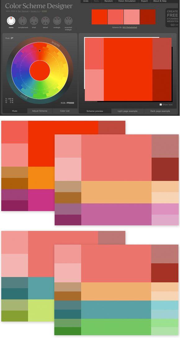 http://colorschemedesigner.com/ | Mood and Color Boards | Pinterest ...