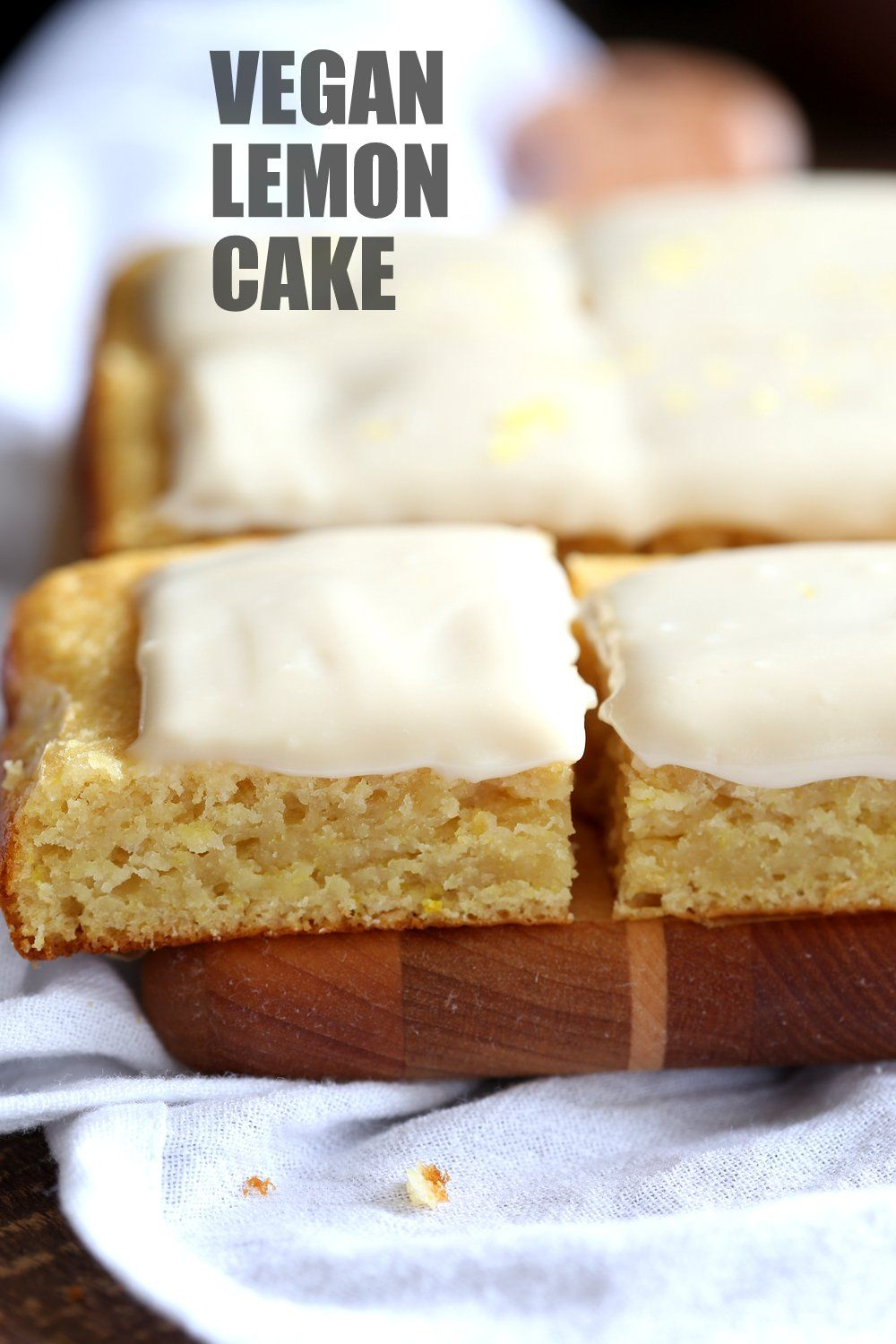 Vegan Lemon Cake with Cream Cheese Frosting Vegan Lemon Cake with Cream Cheese Frosting. No added refined sugar in this soft and Delicious Lemon Cake! Make into cupcakes, loaf or a sheet pan cake. Can be nut-free |