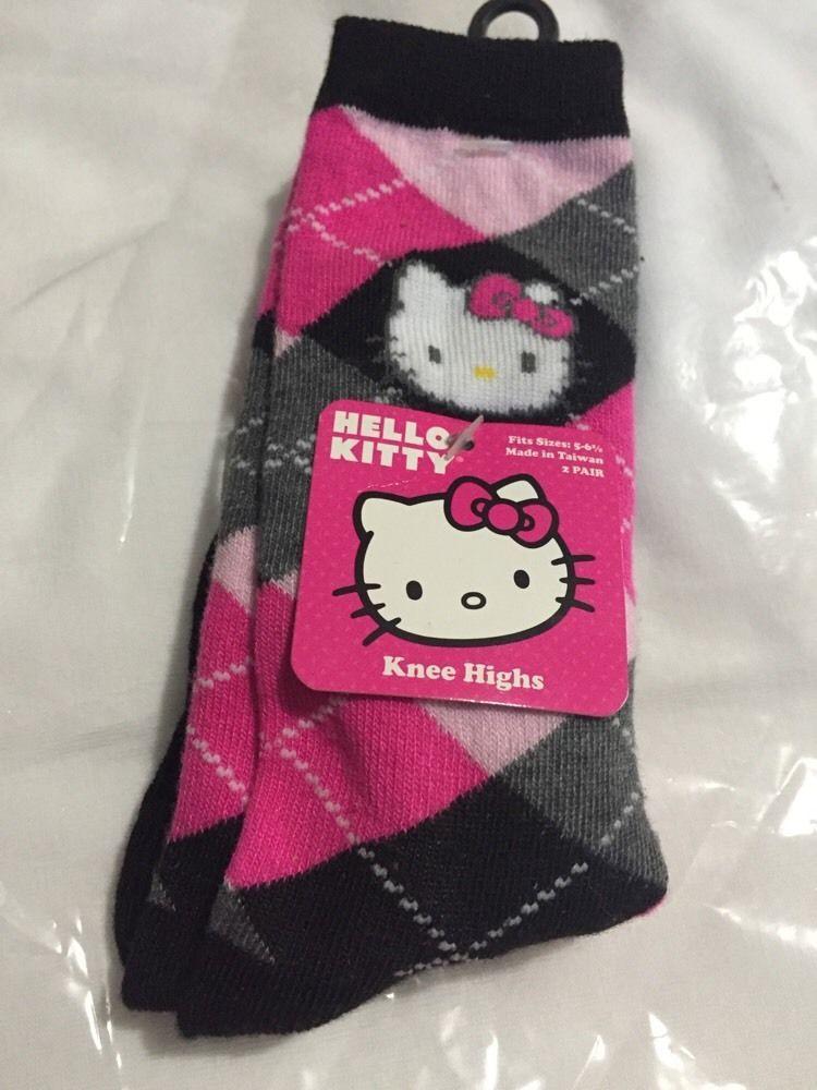 New Kids Girls Knee High Socks 2 /& 4 Pack  School Sock Navy White Charcoal Black