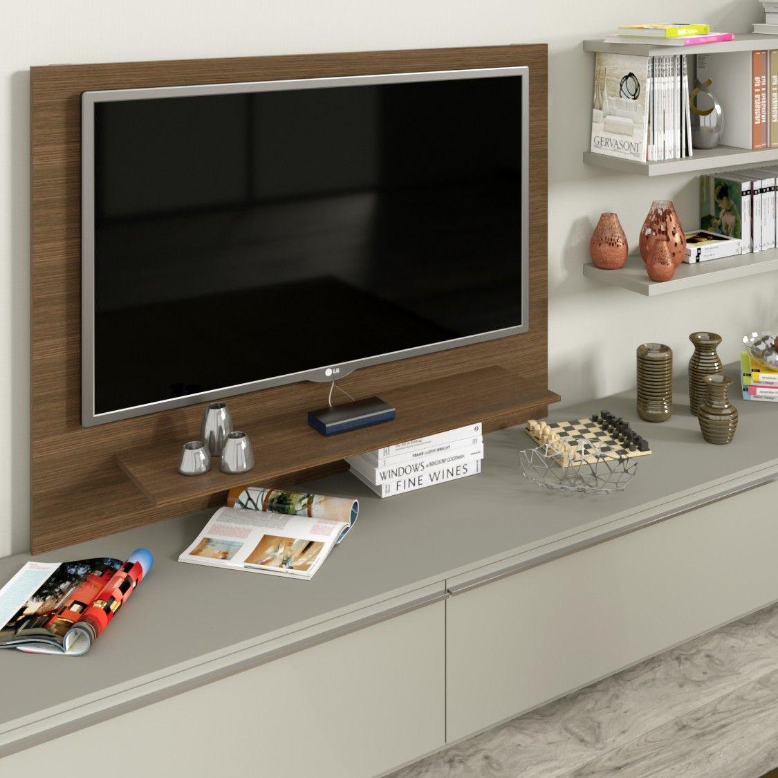 Porta Tv Lcd Vetro.Pannello Porta Tv Con Elemento Tech Cassettoni Mensola In Vetro