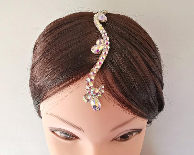 Ballrom Center Part Hair Jewelry