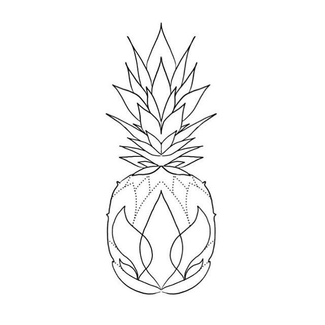 pineapple tattoo mar a fern ndez mariafernandeztattoo on instagram one of my wannados. Black Bedroom Furniture Sets. Home Design Ideas