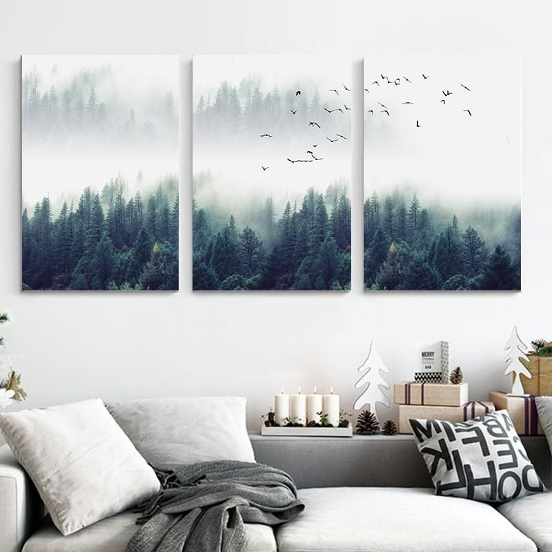 Photo of Nordic Forest Canvas – 30x42cm No Frame / 3PCS