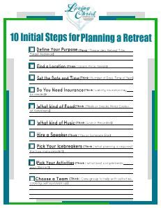 How to plan a women 39 s retreat ministry ideas churches for Personal retreat guide