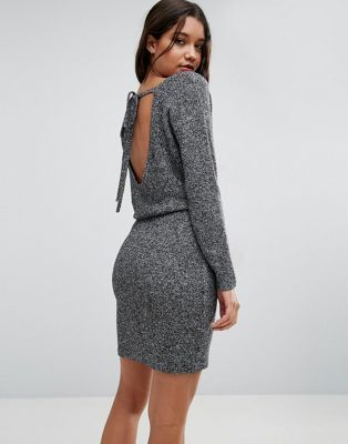 c350d498c9b ASOS Sweater Dress With Tie Back