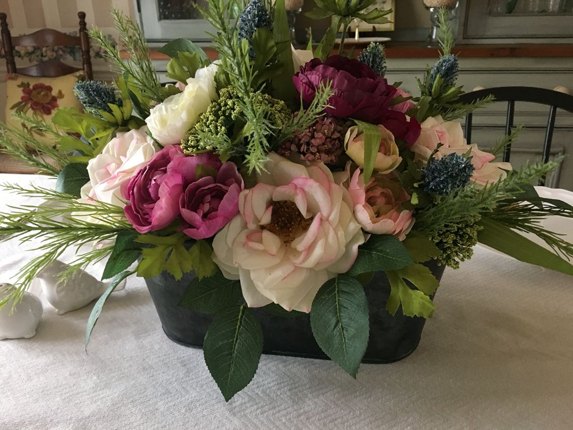 Dining Room Centerpiece Faux Flowers All From Michael S Craft Store Dining Room Centerpiece Michaels Crafts Store Foyer Decor
