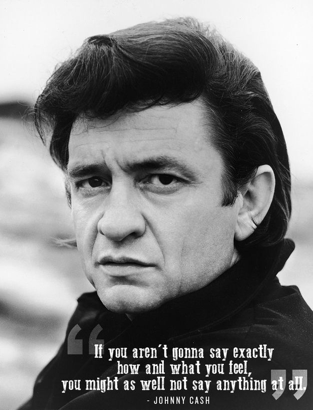 Be True To Yourself Cash Quote Johnny Cash Words Of Wisdom