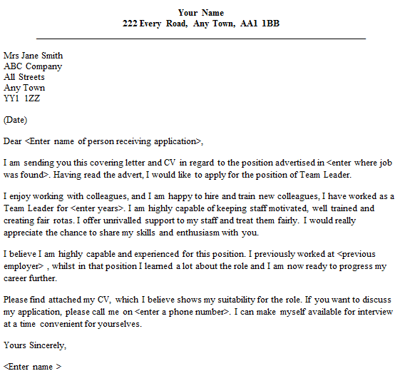 team-leader-cover-letter.png (561×534) | english | Pinterest | Cover ...