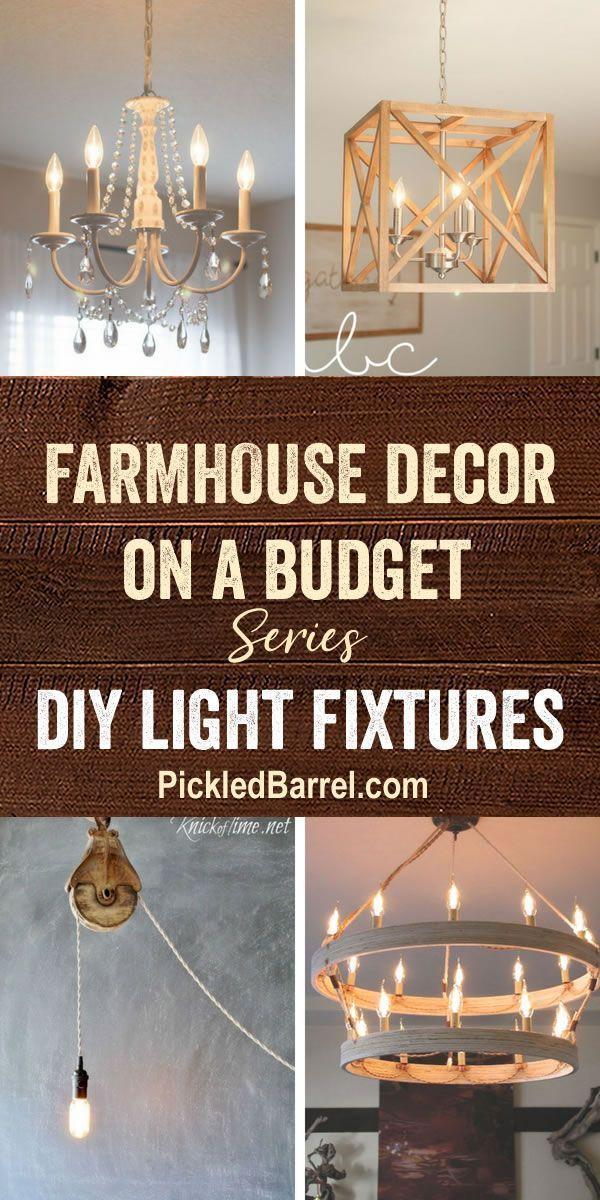 Photo of Bauernhaus Dekor auf ein Budget {Serie}: DIY-Leuchten – #budget #decor #DIY #farmhouse #f ……