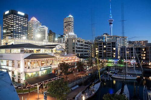 Click to see Viaduct Harbour at night