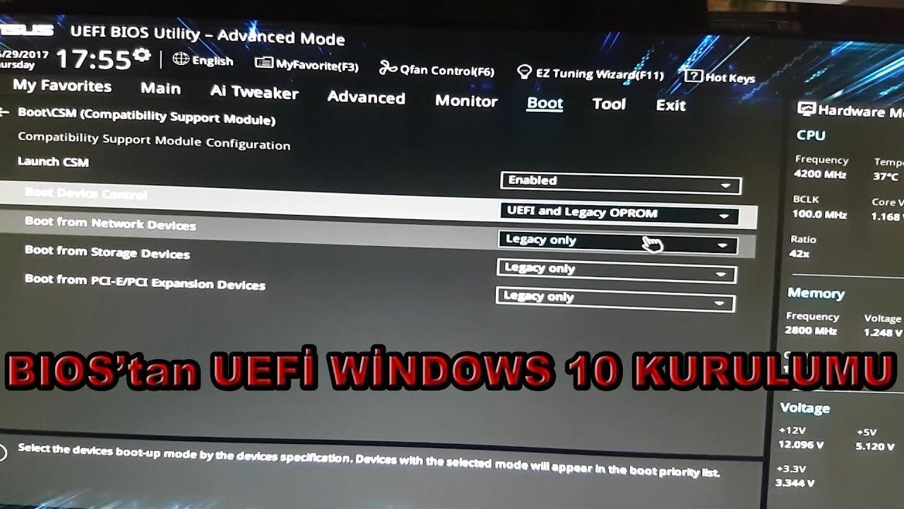 BIOS'tan UEFİ Windows 10 kurulumu  | Teknoloji | Windows 10, Windows
