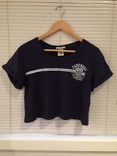 ZANEROBE Athletique Navy Cropped Shirt Top Glue Store General Pants 8