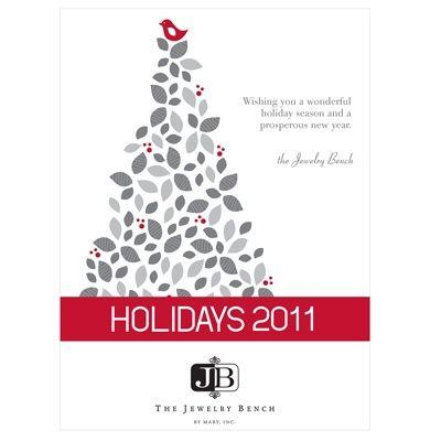 Xmas Tree Business Card Business Holiday Cards Custom Christmas Cards Holiday Cards