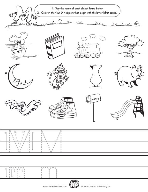 Images That Start With Letter M  Letter Buddies Initial Sounds M