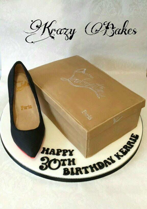 Louboutin shoe and box cake