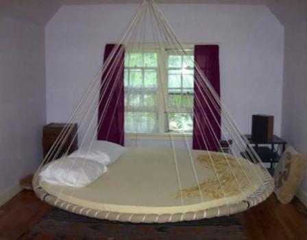 image detail for  bed swing circle bed swing  u2013 funny pictures art  u0026 design funny   cama colgante circular   hanging circular bed   interiorismo      rh   pinterest