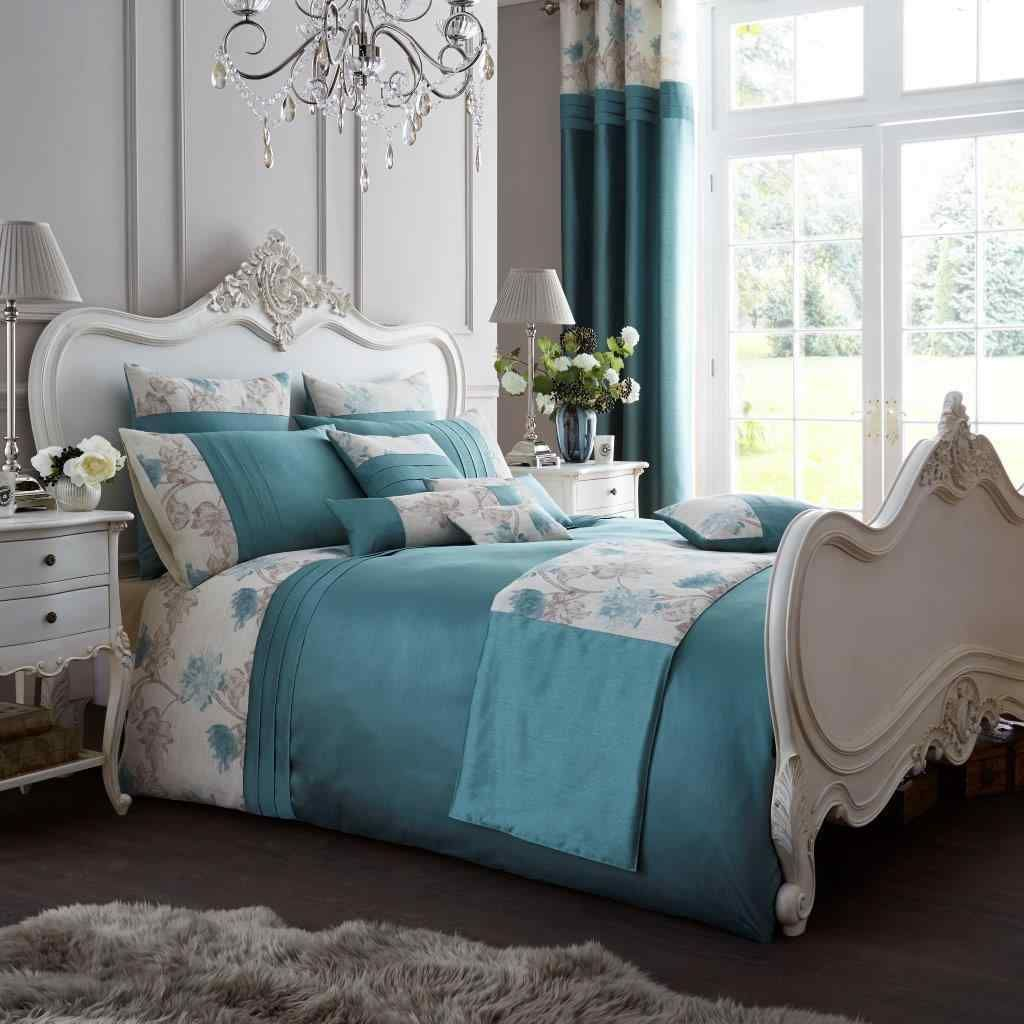 Fancy Koh Teal Duvet Quilt Cover Set — Linens Range  Bed duvet