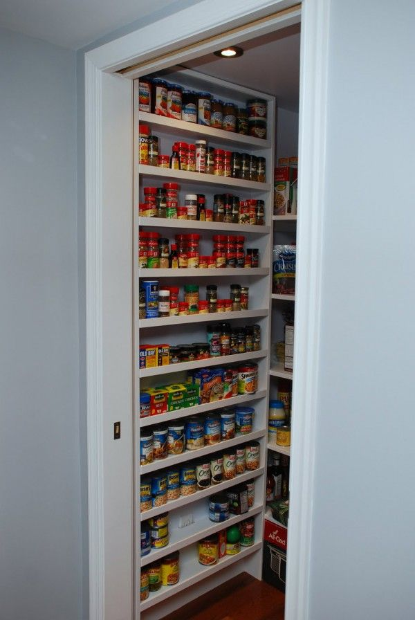 Entrancing Kitchen Pantry Organizers Built In With Wall Mounted Pantry  Shelves Storage Rack And Ceiling Recessed Lights Installation