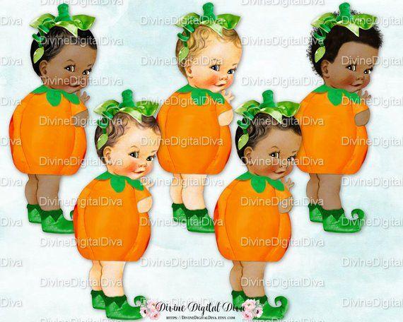 c13ca12df Little Pumpkin Vintage Baby Boy Costume Orange Green