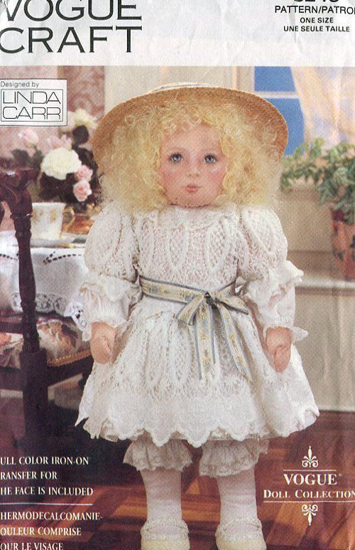 """Vogue 8240 Linda Carr Victorian Doll & Clothes 18"""" 1991 Uncut REE US SHIP by LanetzLivingPatterns on Etsy"""
