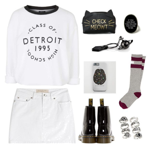 """""""WHEN WE COLLIDE"""" by emilykatephilip on Polyvore featuring Marc by Marc Jacobs, Topshop, Dr. Martens, Victoria's Secret PINK and Forever 21"""