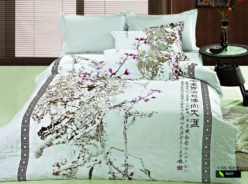 Beatiful And Elegant Chinese Style Printed Duvet Cover Set Bed Patterned Duvet Duvet Cover Sets