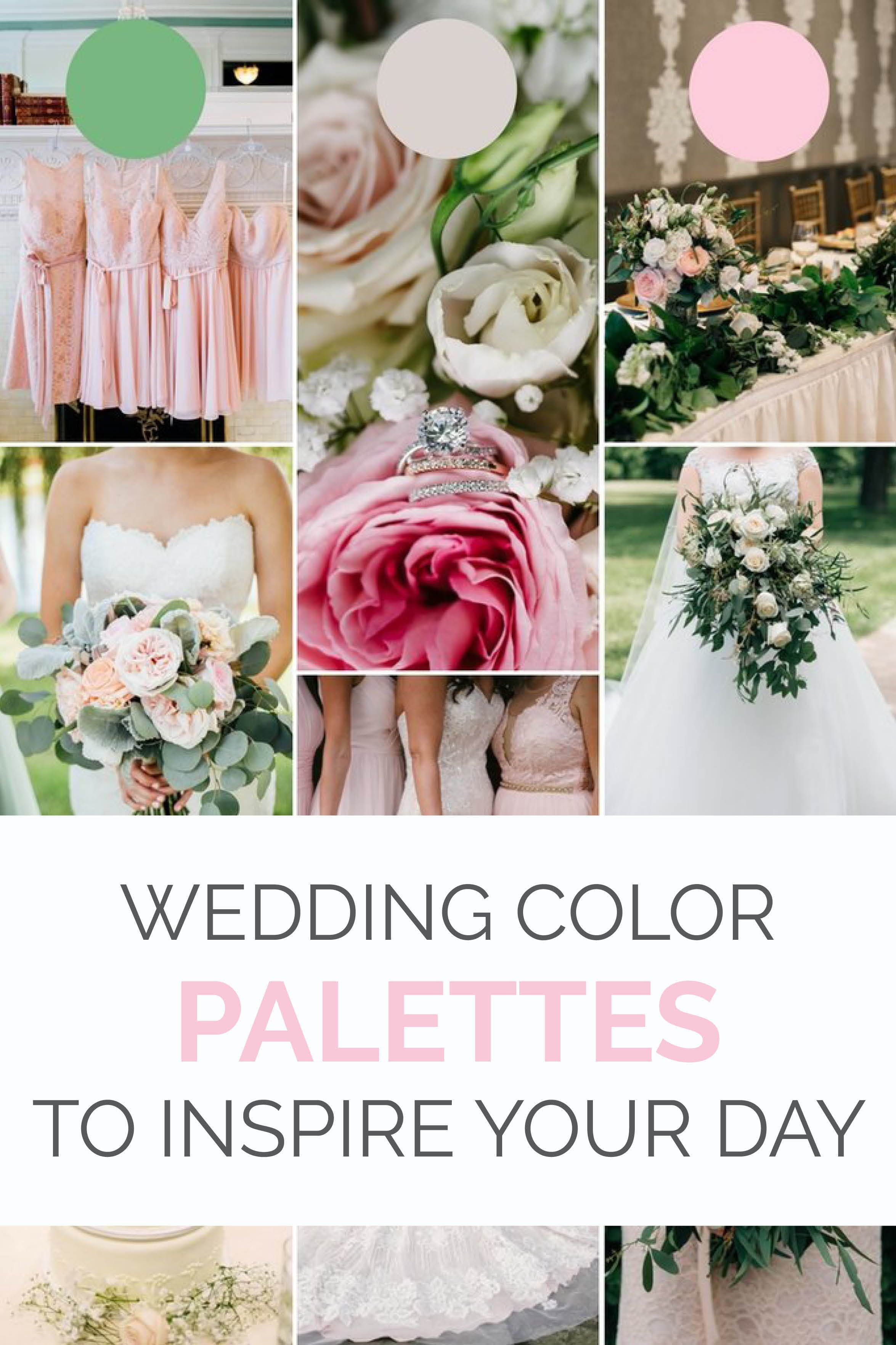 Spring Wedding Colors 2018.2018 Wedding Color Palettes To Inspire Your Big Day Bridesmaids